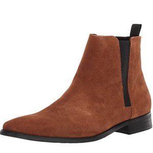 Calvin Klein Rusty Tan Suede Men's Boots Size 10M